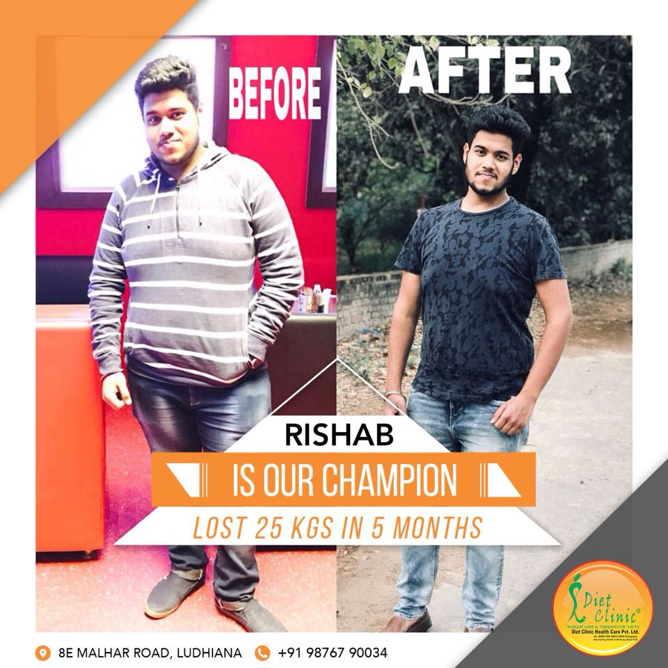 Rishab Garg 25 kg weight loss