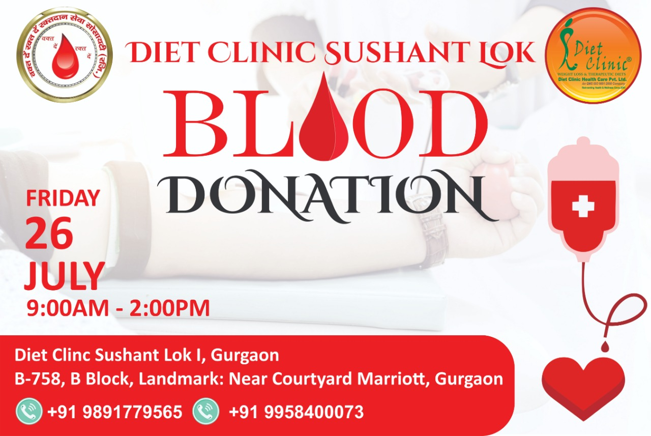Blood Donation Camp at Diet Clinic Sushant Lok